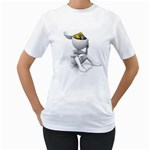 Stick Figure Gears Turning 1600 Clr Women s T-Shirt