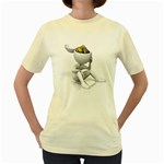 Stick Figure Gears Turning 1600 Clr Women s Yellow T-Shirt