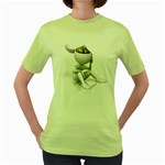 Stick Figure Gears Turning 1600 Clr Women s Green T-Shirt
