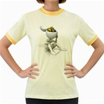 Stick Figure Gears Turning 1600 Clr Women s Fitted Ringer T-Shirt