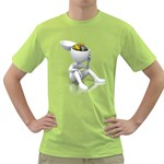 Stick Figure Gears Turning 1600 Clr Green T-Shirt