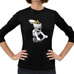 Stick Figure Gears Turning 1600 Clr Women s Long Sleeve Dark T-Shirt