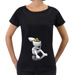 Stick Figure Gears Turning 1600 Clr Maternity Black T-Shirt