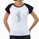 Stick Figure Thumbs Up 1600 Clr Women s Cap Sleeve T