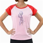 Stick Figure Thumbs Up 1600 Clr Women s Cap Sleeve T-Shirt