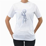 Stick Figure Thumbs Up 1600 Clr Women s T-Shirt