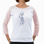 Stick Figure Thumbs Up 1600 Clr Girly Raglan