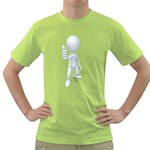 Stick Figure Thumbs Up 1600 Clr Green T-Shirt