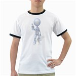 Stick Figure Thumbs Up 1600 Clr Ringer T