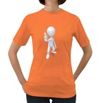 Stick Figure Thumbs Up 1600 Clr Women s Dark T-Shirt