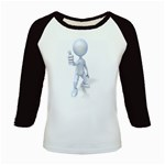 Stick Figure Thumbs Up 1600 Clr Kids Baseball Jersey