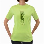 Stick Figure Climbing Ladder 1600 Clr Women s Green T-Shirt