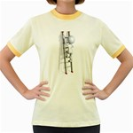 Stick Figure Climbing Ladder 1600 Clr Women s Fitted Ringer T-Shirt