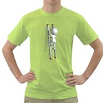 Stick Figure Climbing Ladder 1600 Clr Green T-Shirt