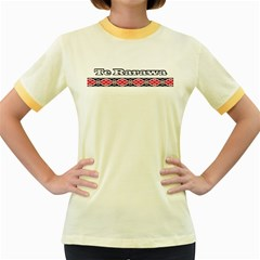 Te Rarawa Women s Fitted Ringer T Front