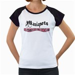 Maniapoto with Rautawa Women s Cap Sleeve T from Maori Creations Front