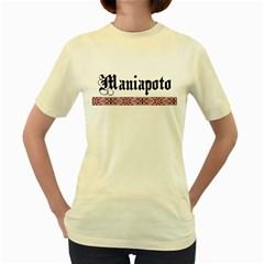 Maniapoto with Rautawa Women s Yellow T Front