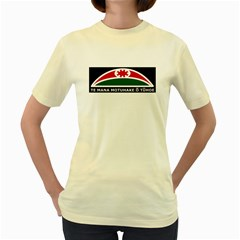 Tuhoe Flag Women s Yellow T Front