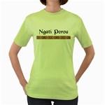 Ngati Porou Design Women s Green T-Shirt