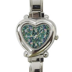 Paua Heart Italian Charm Watch from Maori Creations Front
