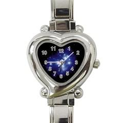 Matariki Heart Italian Charm Watch from Maori Creations Front