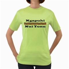 Ngapuhi Nui Tonu Women s Green T Front