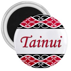 Tainui 3  Magnet from Maori Creations Front