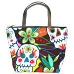 Flower Skulls Bucket Bag
