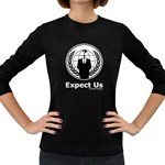 Anonymous Women s Long Sleeve Dark T-Shirt
