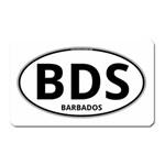 BDS - Barbados Euro Oval Magnet (Rectangular)