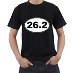 26.2 Marathoner Oval Black T-Shirt