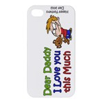 Daddy I love you this much  Apple iPhone 4/4S Extra Tough Hardshell Case