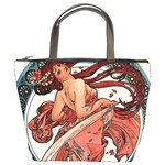 Dance by Alfons Mucha 1898 Bucket Bag