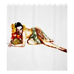Zombie Pin Up Shower Curtain 66  x 72  (Large)