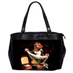 Zombie Pin Up Oversize Office Handbag (Two Sides)