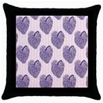 Shabby Chic Hearts Throw Pillow Case (Black)