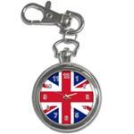 British Flag Key Chain Watch