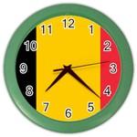 Belgian Flag Color Wall Clock