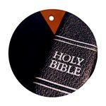 Holy Bible Christian Religious Ornament (Round)