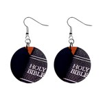 Holy Bible Christian Religious 1  Button Earrings
