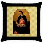 Madonna And Child Throw Pillow Case (Black)