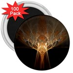 Atomic Mushroom Cloud Fractal 3  Magnet (100 pack)