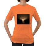 Atomic Mushroom Cloud Fractal Women s Dark T-Shirt
